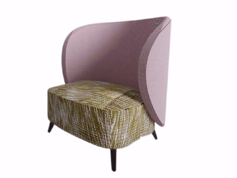 Bergere fabric armchair PEONIA - Raphaël Thomas éditions