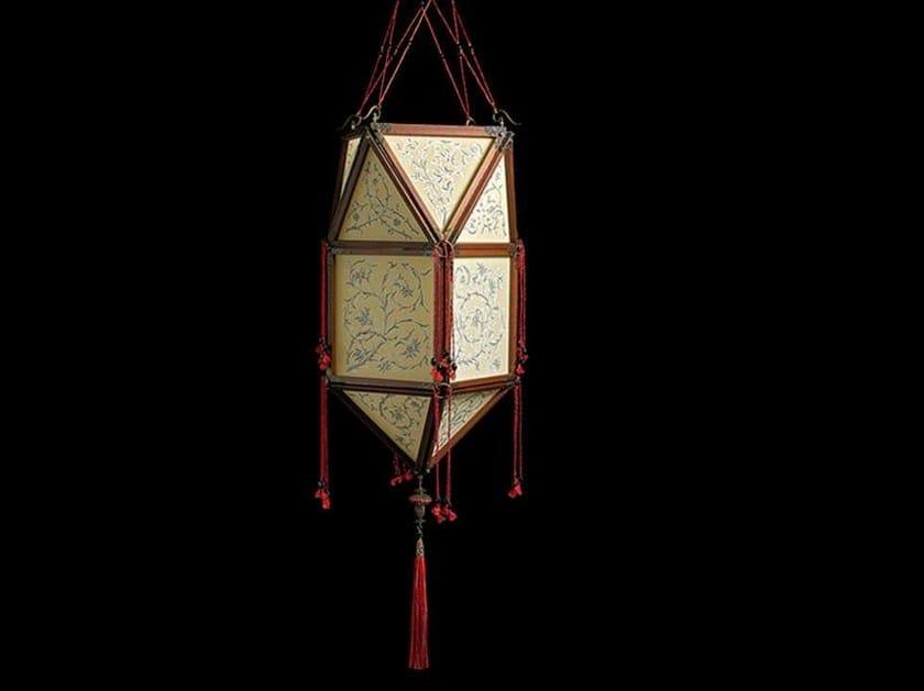 Silk pendant lamp PEONIA - Fortuny® by Venetia Studium