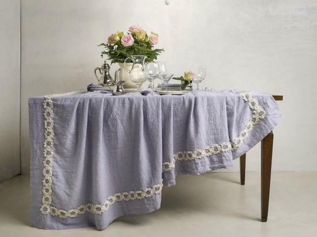 Linen tablecloth PEONIE | Tablecloth - LA FABBRICA DEL LINO by Bergianti & Pagliani