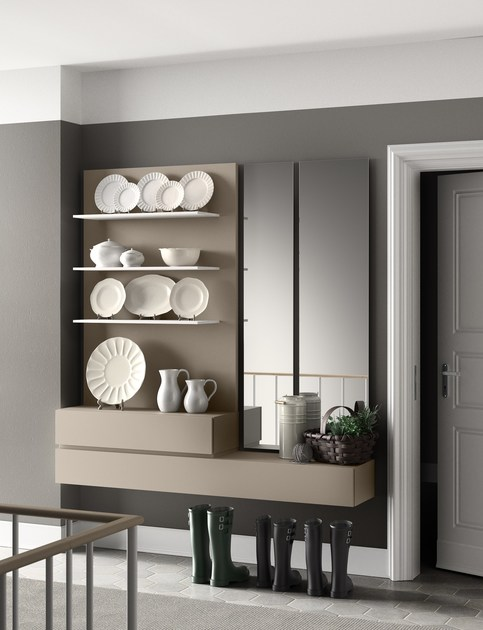 Sectional wall-mounted lacquered storage wall PEOPLE | MOD. P203 - PIANCA