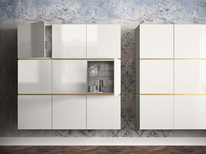 Lacquered suspended highboard PEOPLE P204 - PIANCA