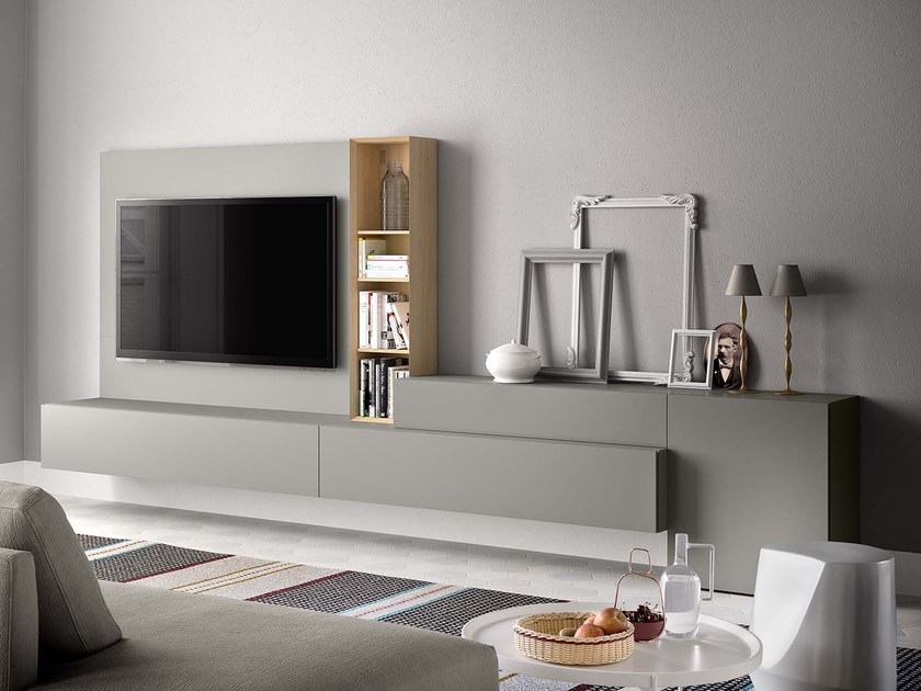 Lacquered TV wall system PEOPLE P214 - PIANCA