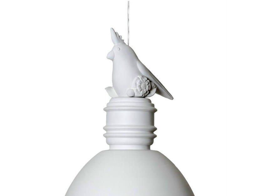 White-paste decoration for pendant lamp little parrot shaped PEPO - Karman
