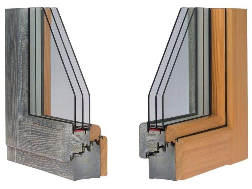 Wooden triple glazed window PERFORMANCE 104 - Alpilegno