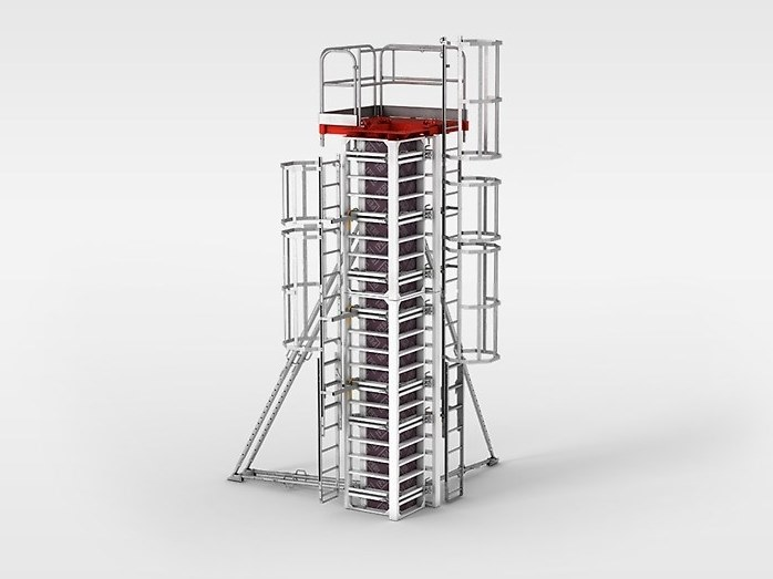 Formwork and formwork system for concrete PERI RAPID by PERI