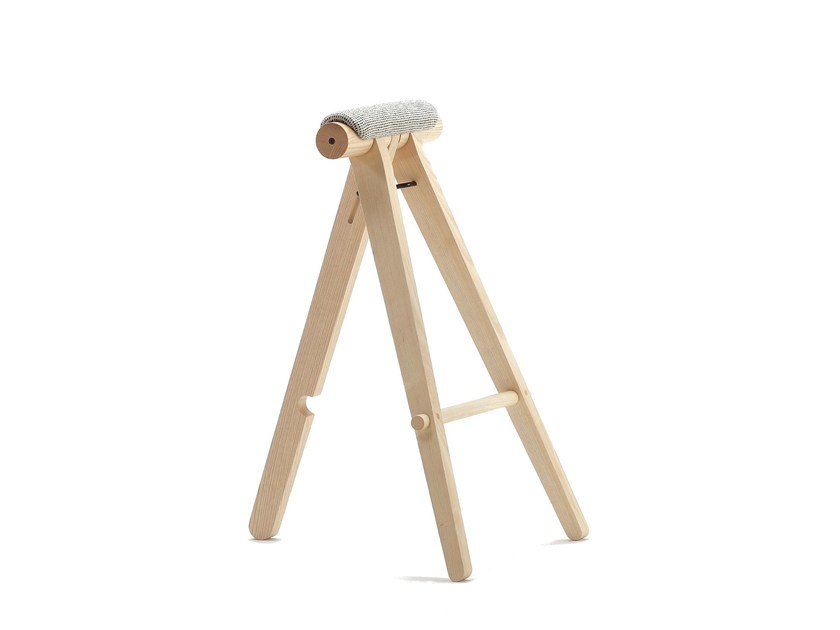 Ash stool with footrest PERIGALLO - SANCAL