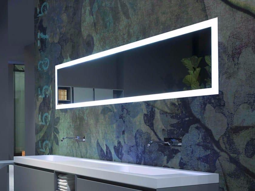 Rectangular mirror with integrated lighting PERIPLO - Antonio Lupi Design®