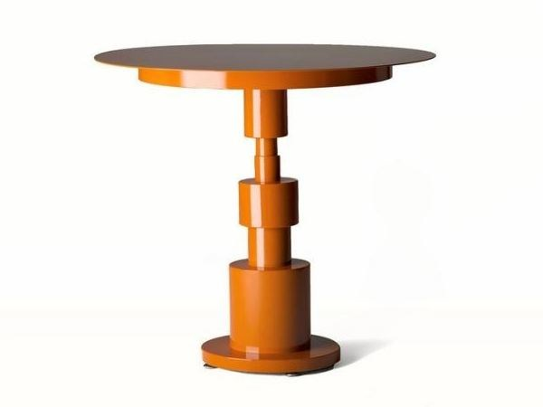 Round metal table PERIPLO by Officine Tamborrino