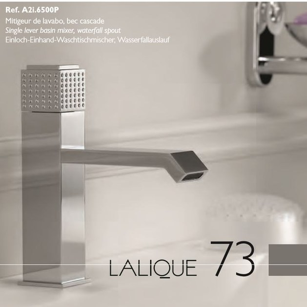 Contemporary style chrome-plated countertop metal washbasin mixer with polished finishing PERLE | 1 hole washbasin mixer - INTERCONTACT