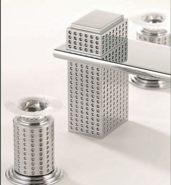 Contemporary style chrome-plated metal washbasin mixer with polished finishing PERLE BEC CASCADE | Washbasin mixer - INTERCONTACT