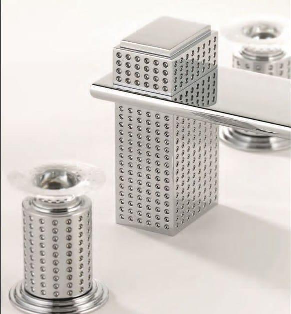 Miscelatore per lavabo a cascata cromo in metallo in stile moderno con finitura lucida PERLE BEC CASCADE | Miscelatore per lavabo a cascata - INTERCONTACT