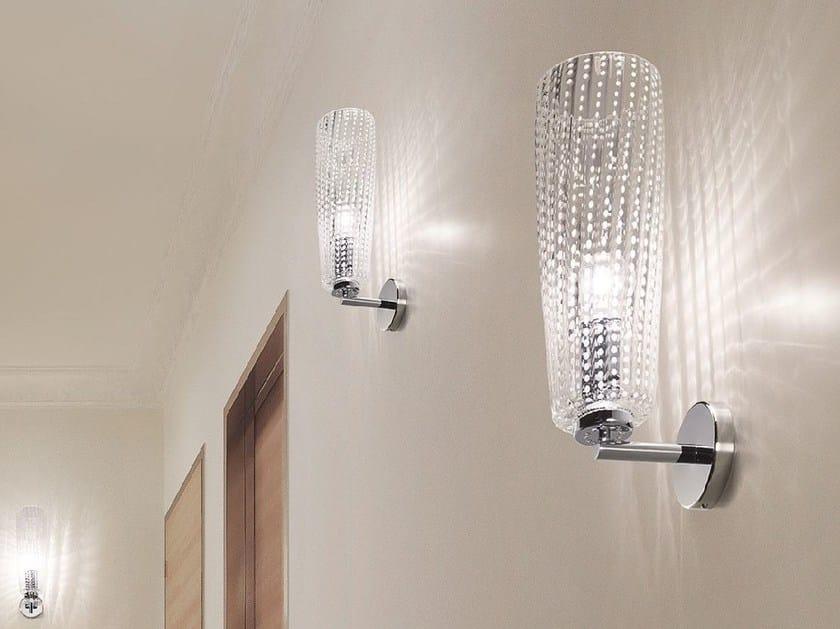 Blown glass wall lamp PERLE | Wall lamp by Zafferano