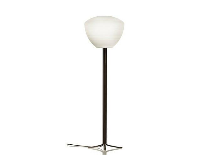 Satin glass floor lamp PERSEO LETTURA 28 - Produzione Privata