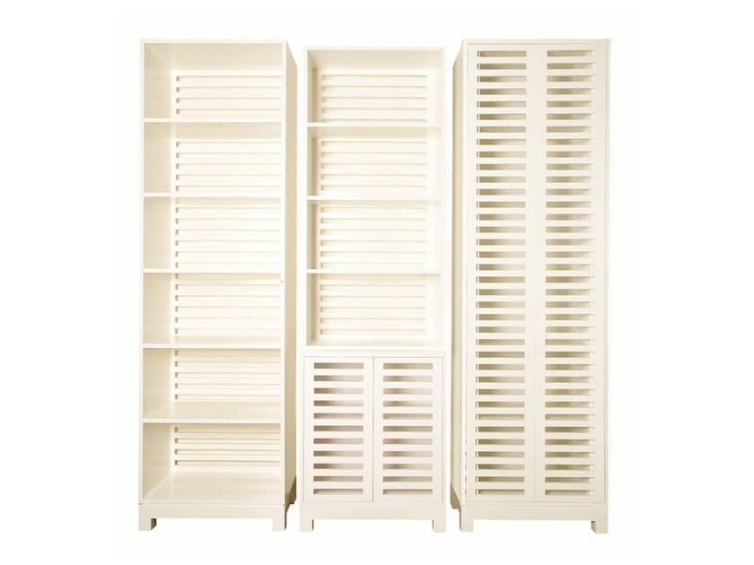 Lacquered MDF bookcase PESCADA - Branco sobre Branco
