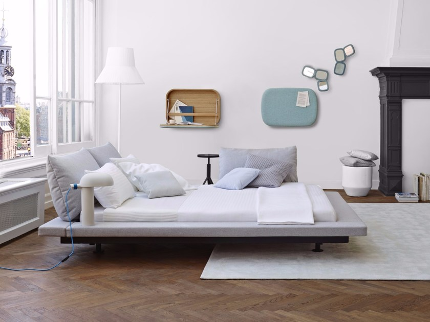 Fabric double bed PETER MALY 2 - ROSET ITALIA