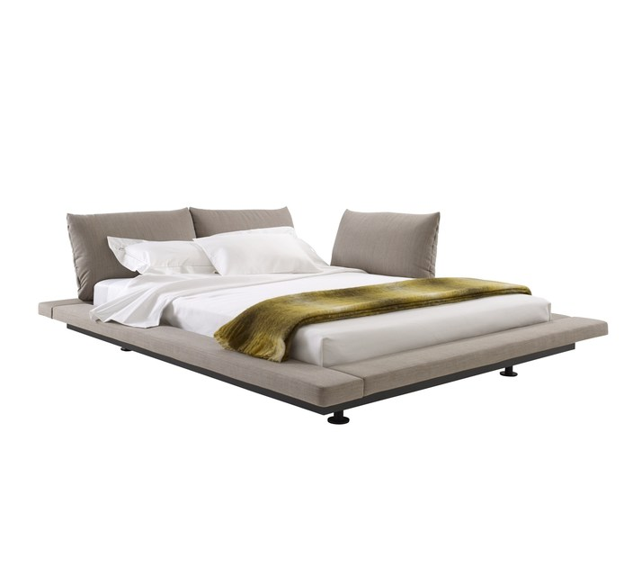 Fabric double bed PETER MALY 2 by Ligne Roset
