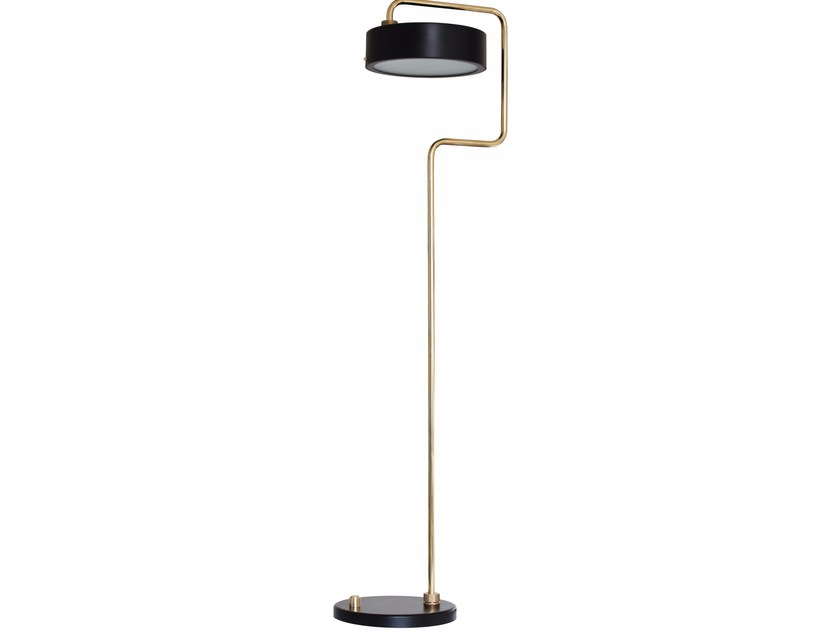 Swivel brass floor lamp PETITE MACHINE LISEUSE - RED EDITION