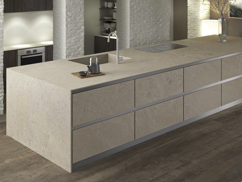 Porcelain stoneware kitchen worktop PETRA ITOPKER by Inalco