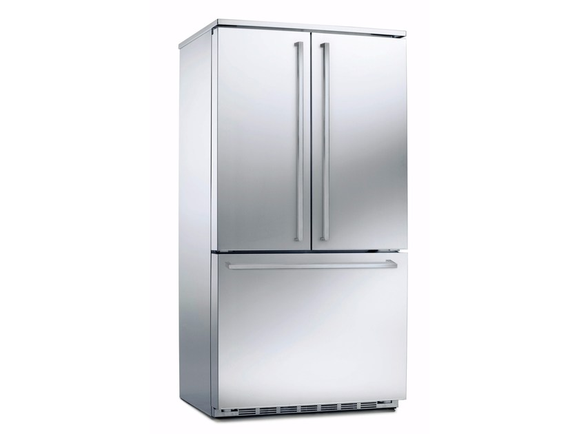 Frigorifero combinato no frost in acciaio inox con congelatore classe A+ PFME 1 NF NB TXE - mabe | Ge Partner Appliances