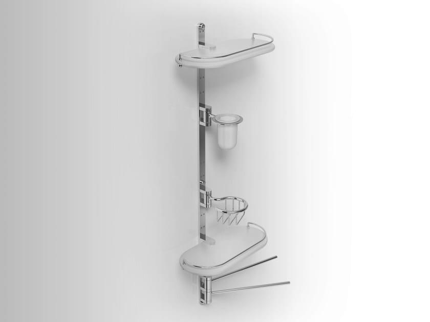 Towel rack/Soap dish/Toothbrush holder/ Bathroom Wall Shelf PHLOX | Metal bathroom wall shelf by Alna