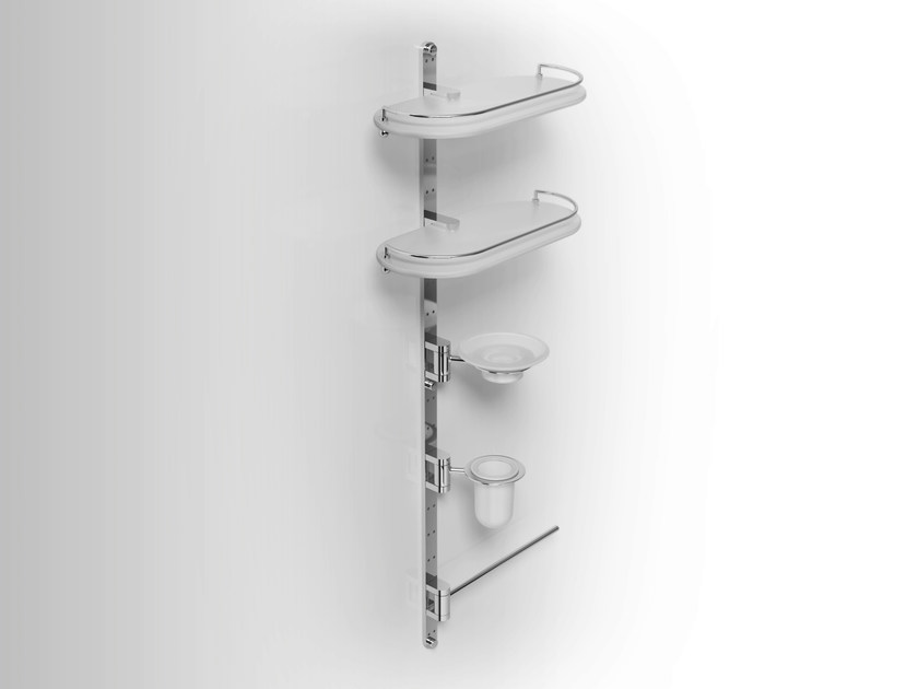 Wall-mounted metal bathroom wall shelf PHLOX | Towel rack - Alna