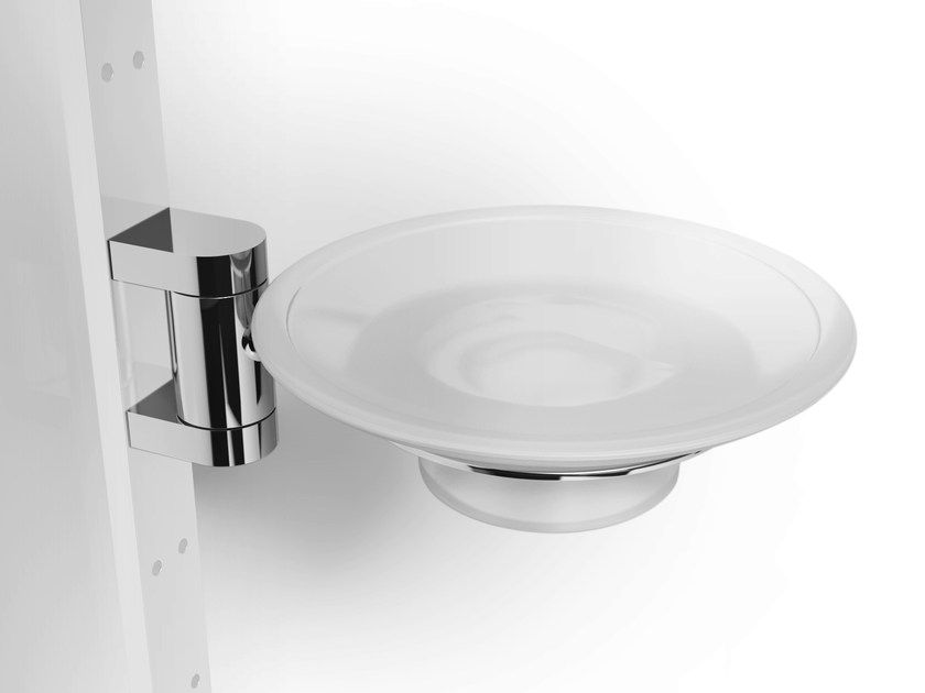 Wall-mounted glass soap dish PHLOX | Soap dish by Alna