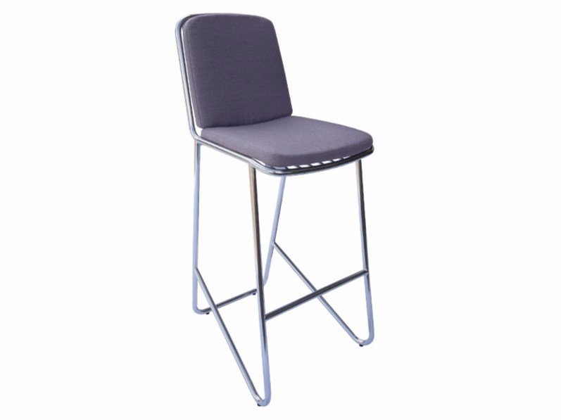 Stainless steel counter stool PHOENIX | Counter stool - Sérénité Luxury Monaco
