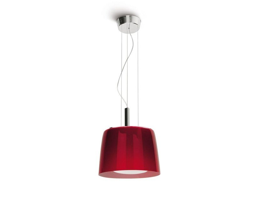 Contemporary style direct light adjustable glass pendant lamp PHOENIX | Pendant lamp - Calligaris