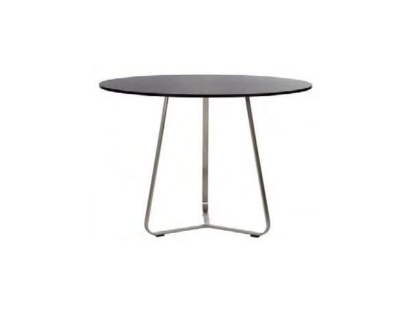 Round HPL garden table PHOENIX   Round table - Sérénité Luxury Monaco