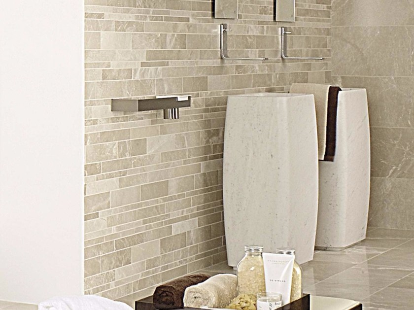 Freestanding rectangular natural stone washbasin PHUKET - L'Antic Colonial