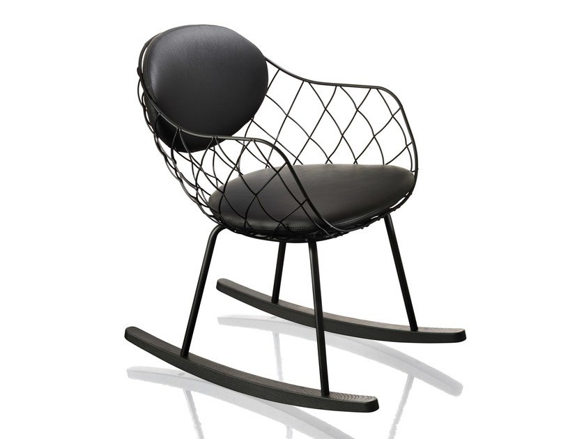 Rocking steel chair PIÑA | Rocking chair - Magis
