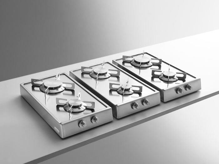 Piano cottura da appoggio in acciaio inox classe a piani cottura ribaltabili alpes inox - Piano cottura design ...