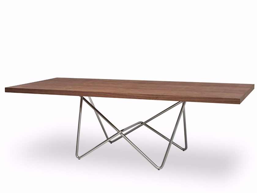 Rectangular solid wood table PIANO DESIGN 2006 by Riva 1920