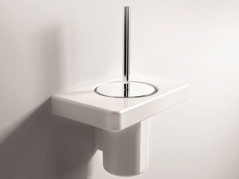 Wall-mounted toilet brush PIANO | Toilet brush - Hidra Ceramica