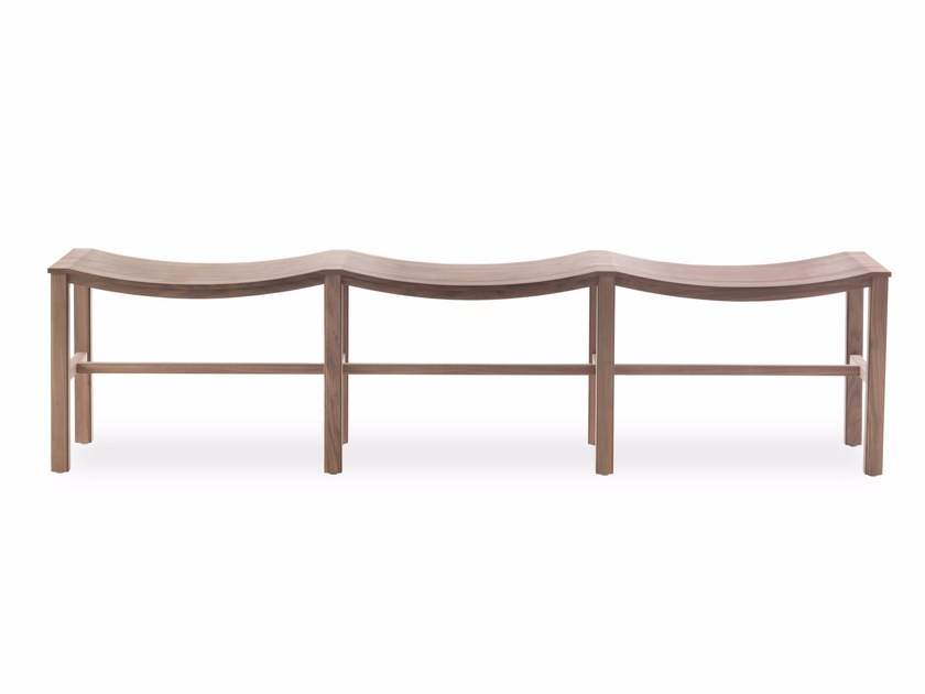 Solid wood bench PIAZZA SCALA by Riva 1920