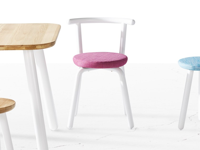 Fabric chair PICKET | Fabric chair by Derlot Editions