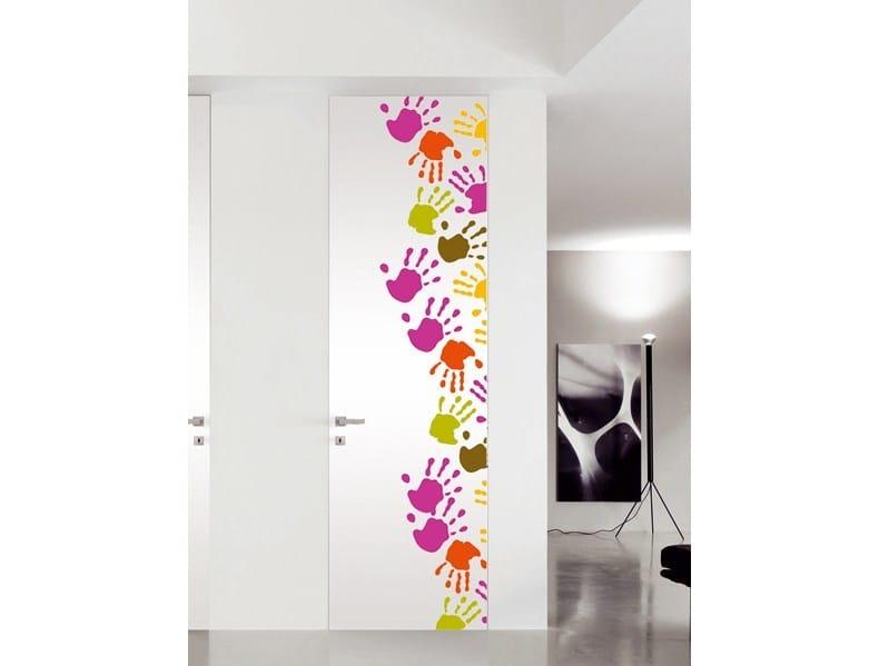 Flush-fitting lacquered door PICTURE DOORS - BLUINTERNI