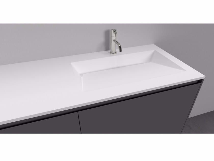 Cristalplant® washbasin countertop PIEGA - Antonio Lupi Design®