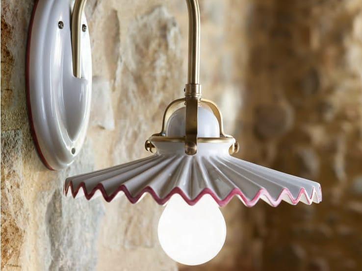 Ceramic wall lamp with fixed arm PIEGA | Wall lamp by Aldo Bernardi