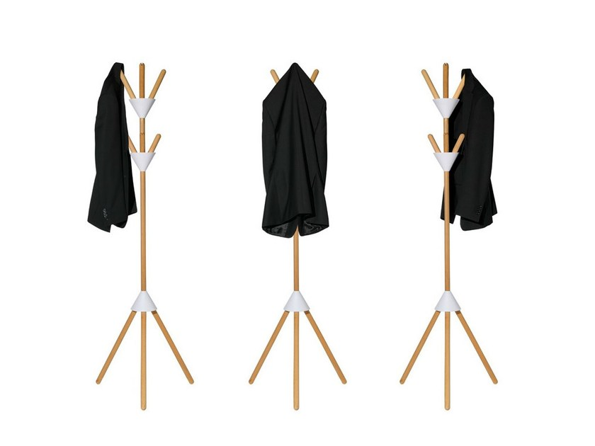 Wooden coat stand PIERROT - ALESSI