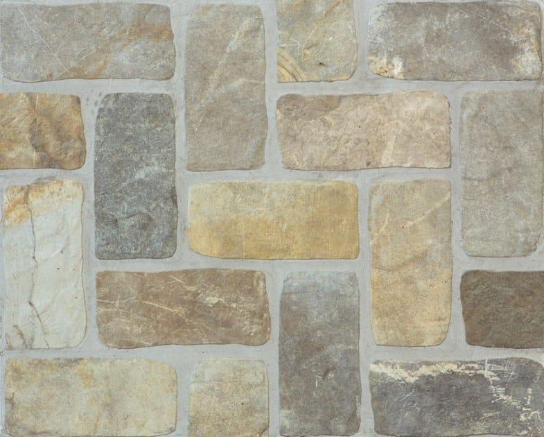 Pavimento rivestimento effetto pietra per interni ed esterni pietre di fiume ceramica rondine - Pietre da esterno per rivestimento ...