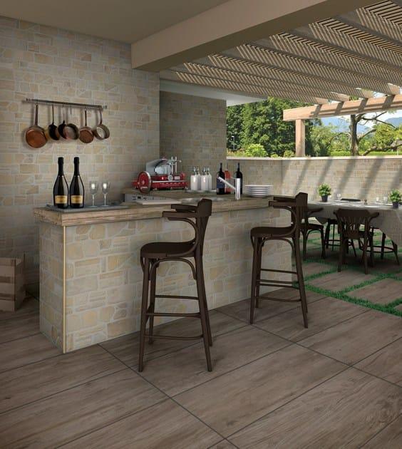 Pavimento rivestimento effetto pietra per interni ed for Pietre di fiume