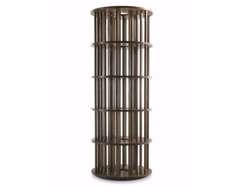 Open solid wood bookcase PILLAR by Riva 1920