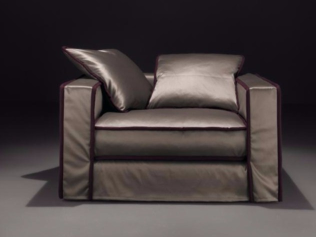 Upholstered armchair with armrests PILLOPIPE | Armchair - Casamilano