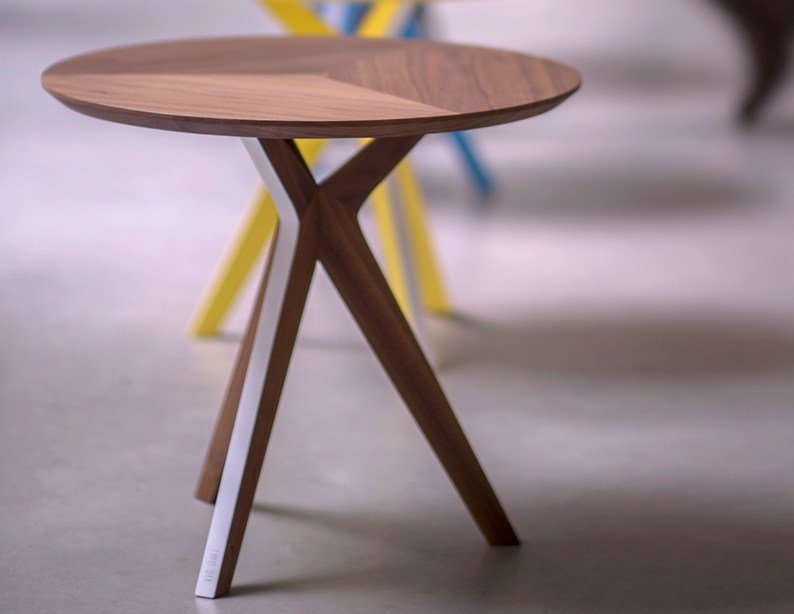 Round wooden side table PINKIT | Side table by Two Six