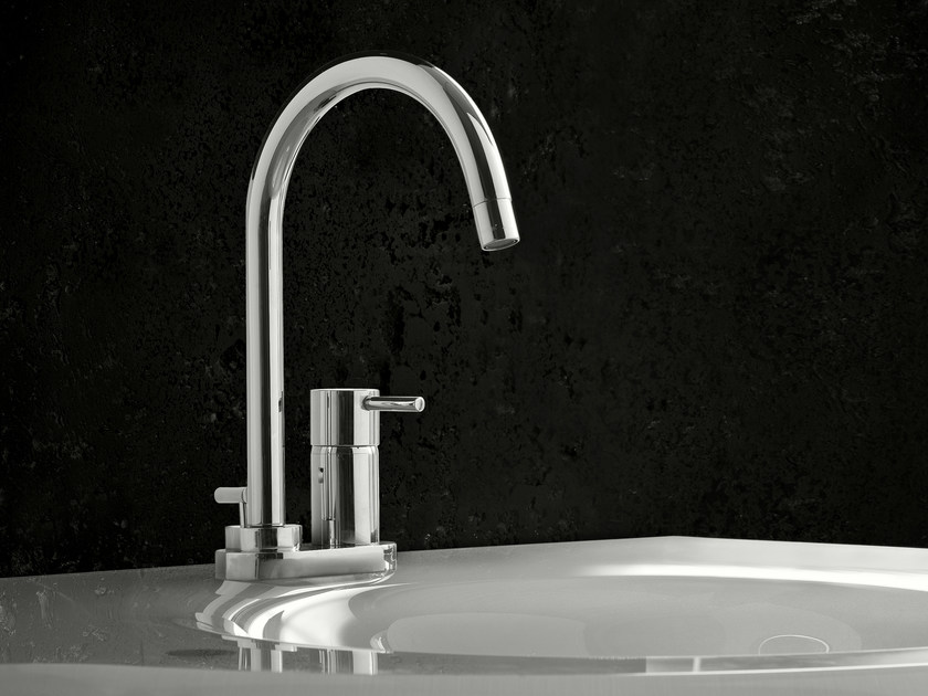 Washbasin mixer with automatic pop-up waste PINO' | Washbasin mixer - Signorini Rubinetterie