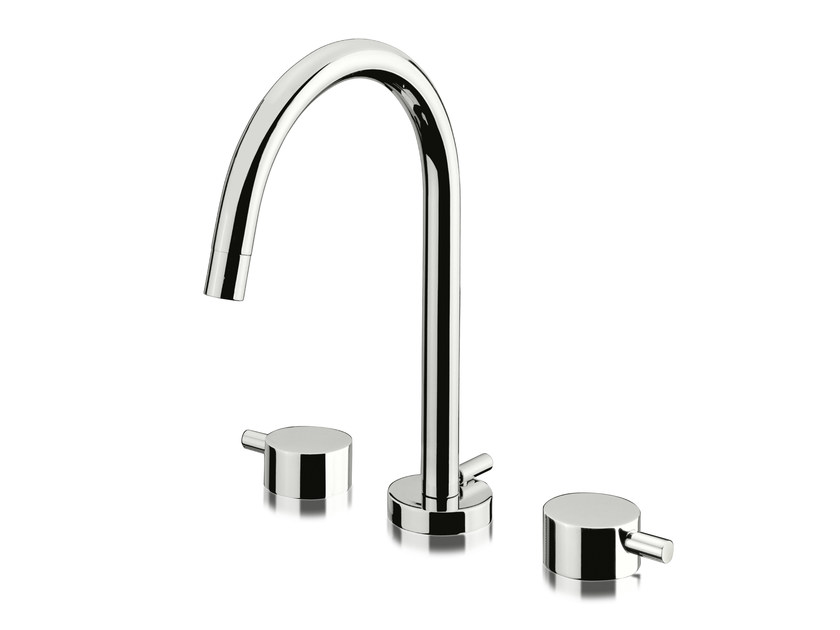 3 hole washbasin tap with automatic pop-up waste PINO' | 3 hole washbasin tap - Signorini Rubinetterie