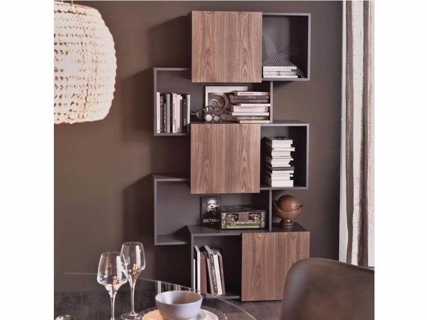 MDF bookcase PIQUANT by Cattelan Italia