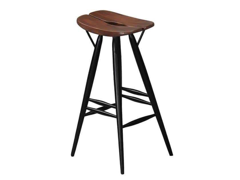 High wooden barstool PIRKKA | High stool - Artek