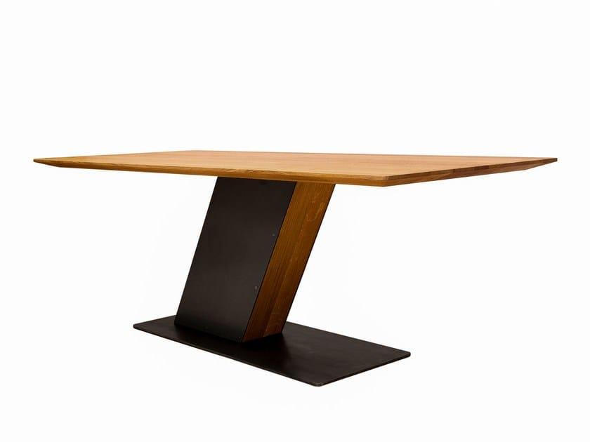 Rectangular steel and wood table PISA - KFF
